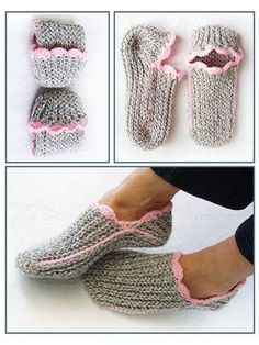 Crochet - For a neat and snug fit, the fabric must be flexible and stretchy, like in knitting! To achieve this comfort in crochet, these slippers are worked sideways in slip-stitch ribbing. A great beginner slipper design. Crochet Sole, Easy Crochet Slippers, Puff Stitch Crochet, Crochet Slipper Pattern, Annie's Crochet, Crochet Boots, Crochet Crafts, Slip Stitch, Knitting Socks