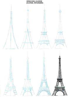 Eiffeltoren .. sketch .. illustration