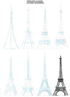 Eiffeltoren .. sketch .. illustration