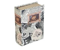 Storage Book - Butterfly Newspaper   The Butterfly Newspaper Storage Book is an attractive storage alternative. A magnetic storage container designed to look like an fashionable book with a variety of stylish covers, perfect for displaying on coffee tables, shelves or sideboards.   Height : 22cm Width : 16.5cm Depth : 7cm