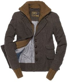 Tweed bomber jacket