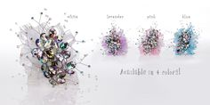 Unique acrylic flower gems with rainbow colored reflection make a sparkling Corsage for Prom or Homecoming