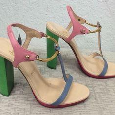 "Selling this ""Christian Louboutin Color Block Heels"" in my Poshmark closet! My username is: mgwardrobe. #shopmycloset #poshmark #fashion #shopping #style #forsale #Christian Louboutin #Shoes"