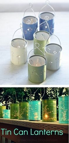 DIY Tin Can Lanterns - recycle food cans, good activity for kids by msaifullah9