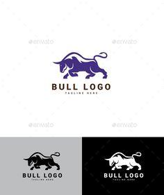 Bull Logo - Animals Logo Templates Logo Design Template, Logo Templates, Dynamic Logo, Bull Logo, Portfolio Logo, Best Logo Design, Animal Logo, Animals, Animales