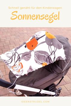 Awning for the pram - easy and quick yourself .- Sonnensegel für den Kinderwagen – einfach und schnell selbst genäht Awning for the pram – sewn quickly and easily yourself – a whirlpool of ideas - Knitting Charts, Baby Knitting, Fotos Baby Shower, Maila, Baby Supplies, Baby Carriage, Baby Kind, Homemade Baby, Baby Boy Nurseries