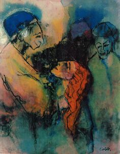 Emil Nolde, Vergebung (Forgiveness), on ArtStack Emil Nolde, Online Art Gallery, Forgiveness, Printmaking, Art Museum, Watercolor, Artwork, Artist, Painting