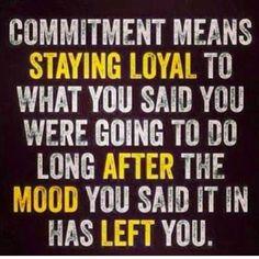 """Commitment """