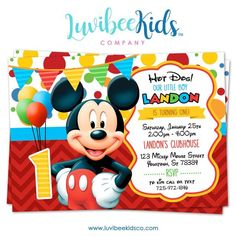 Mickey Mouse Online Invitations Best Of Mickey Mouse Birthday Invitation Printable Invite Style 01 – Luvibeekidsco Mickey Mouse Clubhouse Invitations, Mickey Mouse Birthday Invitations, Mickey Mouse First Birthday, Mickey Mouse Clubhouse Birthday Party, Printable Birthday Invitations, 1st Boy Birthday, Mickey Party, Birthday Ideas, Invitations Online