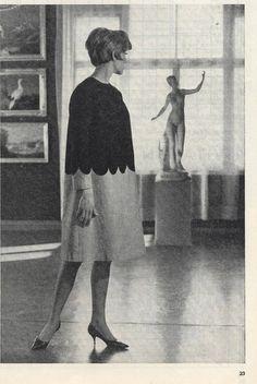 Vintage Marimekko 1963 Design Research Dress Green & Pink