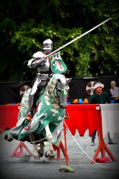 Pelle jousting on Promyk during St. Olav's 2014(photo by Stine Gulli) from - The Jousting Life