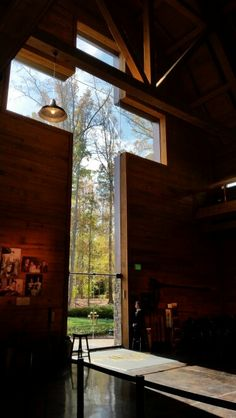 Billy Graham Library Cross entry from inside