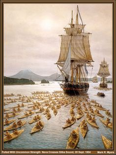 Pulled With Uncommon Strength.  The Neva Crosses Sitka Sound, 28 September 1804