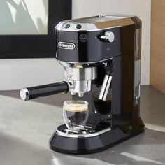 DeLonghi ® Dedica Slimline Black Espresso Maker - Crate and Barrel