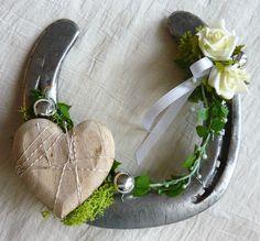 Hufeisen Ringkissen für Hochzeit Eheringe Liebe Glücksbringer