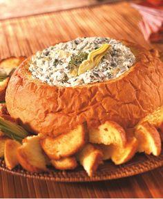 Classic Spinach Dip in Hawaiian Bread Bowl http://wm13.walmart.com/Cook/Recipes/75335