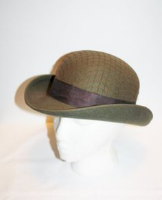 Womens Wool Fedora Hat Fall Felt Vintage Lords Grace and Elegance Doeskin  ANNIE HALL Derby Womens Bowler Mod Boho George W Bollman Size 22 4646e941e440