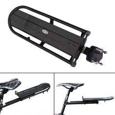 Aluminum Alloy MTB Bike Bicycle Rack Carrier Panniers Bag Carrier Adjustable Rear Seat Luggage Cycling Shelf Bracket BHU2