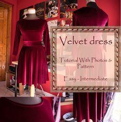Velvet Dress: Tutorial & Pattern – BIPOLAR BEAR