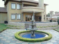 Pretoria, Vases Decor, Garden Landscaping, Swimming Pools, Fountain, Garden Design, Landscape, Gardens, Outdoor Decor