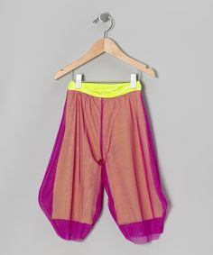 Take a look at this Purple Mesh Harem Pants - Toddler & Girls by Secret Bohemia on #zulily today!