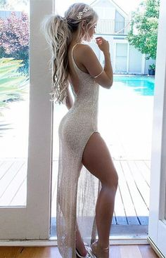 modest light champagne laca prom dresses, unique sheath backless party dresses, simple sheer lace formal beach dresses