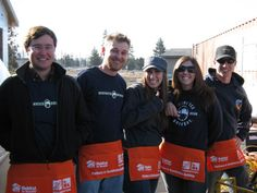 Giving Back to the Community: Deschutes Brewery employees volunteers for Habitat for Humanity. #ICPD