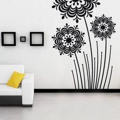 Vinilos Decorativos Flores Splash Vinyl Decor, Wall Decor, Room Decor, Wall Vinyl, Wall Design, House Design, Room Paint Colors, Home And Deco, Decorate Walls