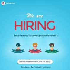 We, at BrainMobi are #Hiring Again! Be a part of one of the fastest growing mobile app development company. We have open our doors for:  1) iOS Developer - 3 2) Android Developer - 3 3) PHP Developer - 3  #ios #android #php #developer #apps #jobs #career Interested candidates can send their resumes on: hr@brainmobi.com