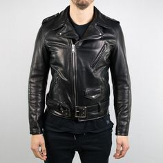 cea26e279f Schott NYC - 519 Waxy Natural Cowhide 50 s Perfecto Motorcycle Leather  Jacket