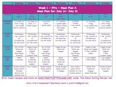 PiYo Week 1 Update - Women's Progress and PiYo Meal Plan, Plan A. www.HealthyFitFocused.com