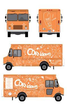Corndawg Foodtruck by Tae S. Yang, via Behance