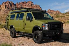 These Ford Camper Van Conversions Make Adventuring Easy Enhancing Ford's Econoline van with a slew of high-end parts. Go to Source Author: Chris West. 4x4 Camper Van, Build A Camper Van, Off Road Camper, Truck Camper, Renault Master Camper, Renault Kangoo Camper, Iveco Daily Camper, 4x4 Van Conversion, Ambulance