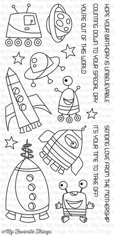 Out of This World stamp set #mftstamps