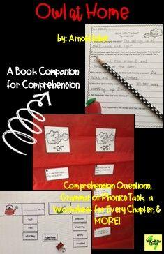 Owl At Home A Book Companion For Comprehension Book Companion Teaching Second Grade Teacher Help