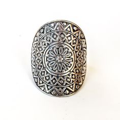 Mandala Ring | Bohemian Gypsy Jewelry | Indie and Harper