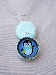 Little frosty penguin earrings arrived in this cold day. The back of the caps was covered with ice-like paste to enhance the winter feeling. Bottle Cap Earrings, Drop Earrings, Cold Day, Penguin, Ice, Winter, Winter Time, Drop Earring, Penguins