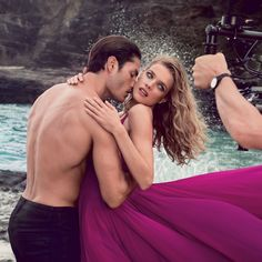 Seduction on set. A look at the making of the euphoria Calvin Klein ad campaign, featuring models Natalia Vodianova and Tyson Ballou. #freethefantasy