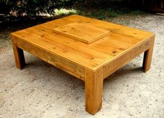 DIY Pallet Coffee Table with Mid Storage Box | 99 Pallets