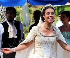 Vestido de noiva Melissa (Paolla Oliveira), Além do tempo novela , casamento