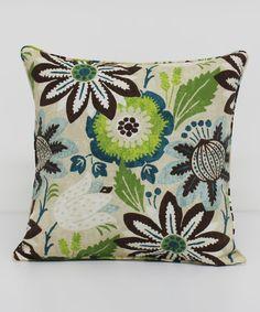 Jasmine Grotto Square Throw Pillow by Brentwood Originals #zulily #zulilyfinds