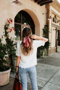 half up with hair bow | merricksart.com