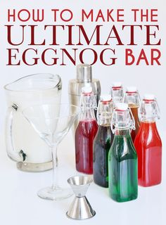 How To Make The Ultimate Eggnog Bar see more at http://blog.blackboxs.ru/category/christmas/