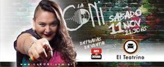 La CONi se presentará por primera vez en un Teatro en Salta.: El show será el sábado 11 de noviembre a las 21:30 en El Teatrino. Las…