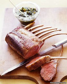 """See the """"Rack of Lamb with Gremolata"""" in our Favorite Herb Recipes gallery Herb Recipes, Cooking Recipes, Cooking Time, Potluck Recipes, Roast Recipes, Spring Recipes, Cooking Ideas, Gremolata Recipe, Rack Of Lamb"""