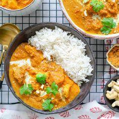 "Intialainen klassikkoruoka: ""Butter chicken"" tofulla"
