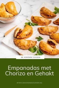 Empanadas, Chorizo, Diner Recipes, High Tea, Food And Drink, Pork, Menu, Lunches, Desserts