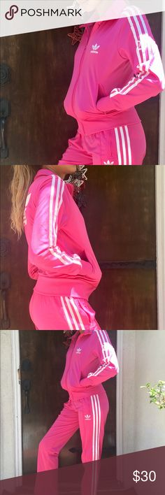 Adidas pink Tracksuits Size Small