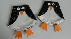 Pinguins van papieren bord