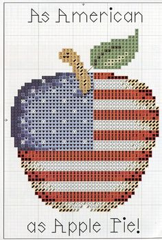 American as apple pie  also see the color chart that I pinned...